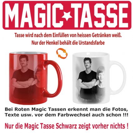 Fototasse Magic Zaubertasse Rot